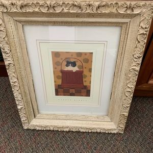 Warren Kimble Print in Antique Shabby Chic Frame